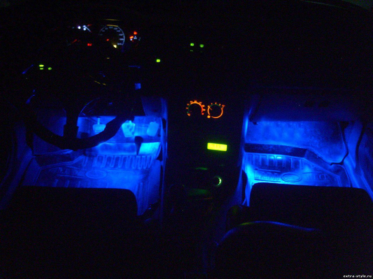 Тюнинг салона Ваз 2115 своими руками Подсветка 99